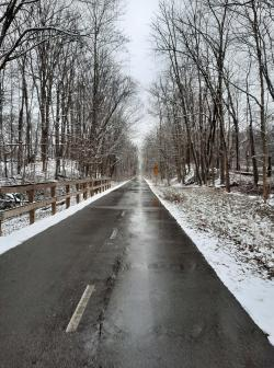 The B&O Trail in the winter. (Photo courtesy of Indiana DNR Facebook page)