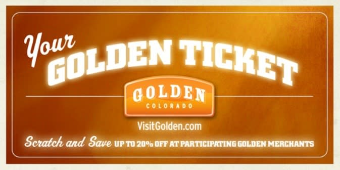 Golden Ticket is a chance to save and win in Golden!