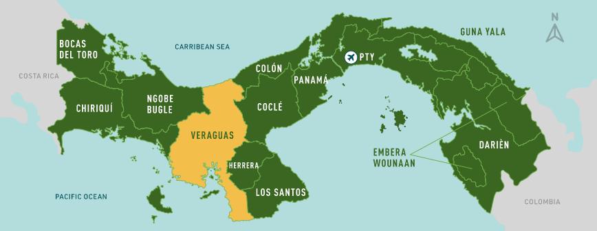 Veraguas map