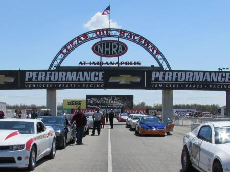 Cars lined up to compete
