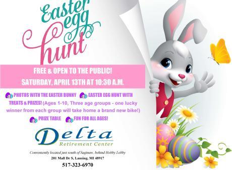 Easter Egg Hunt Delta Retirement Home