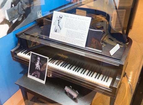 Stevie Wonder Piano at Michigan History Museum