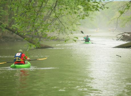 Red Paddle Kayak Race River Town Adventures