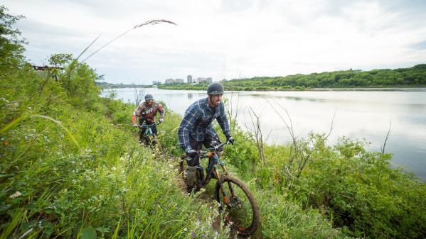 Biking Meewasin Valley Trails