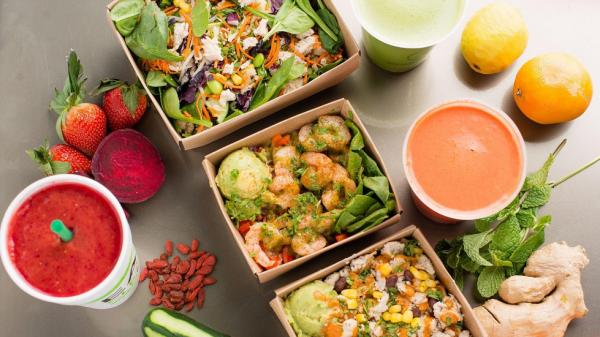 Grabbagreen salads and smoothies
