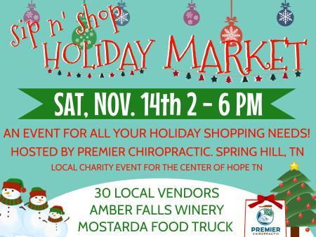 Sip n' Shop Holiday Market
