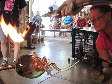 Hot Blown Glass Artists in Action Lisa Pelo