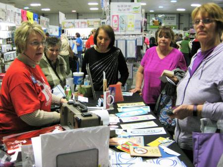 Demonstration at the Rubber Stamp and Paper Craft Festival