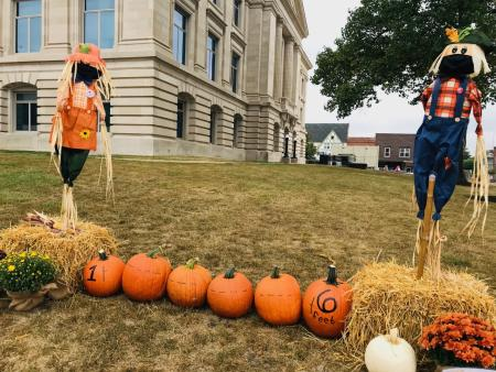 Scarecrows at Hendricks County Courthouse Square