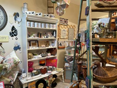 A variety of collectives and home decor at Oak City Collection in Downtown Smithfield, NC.
