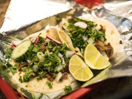 mexican food tacos at el ocho loco in erlanger kentucky