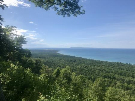 Lake Michigan Overlook at Alligator Hill