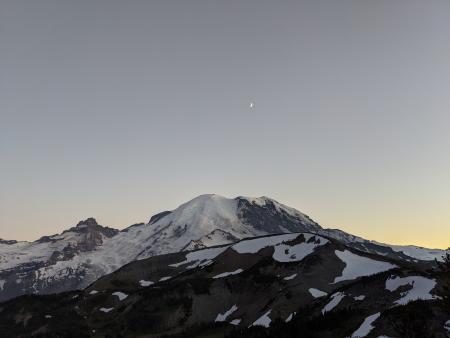 Sunset at Sunrise at Mount Rainier