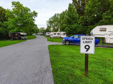 campground at big bone lick state historic site in union, ky
