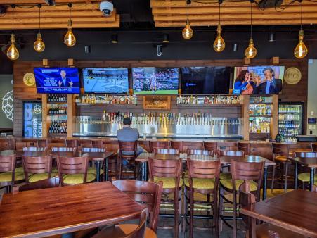 859 taproom bar beer wall