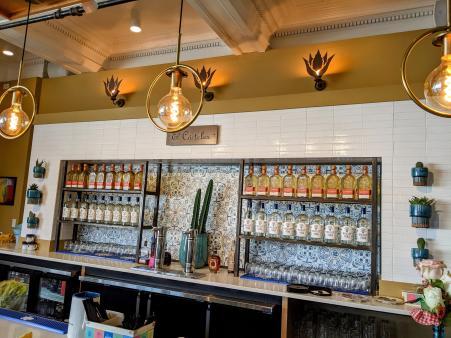 bar area at yuca by cedar in bellevue