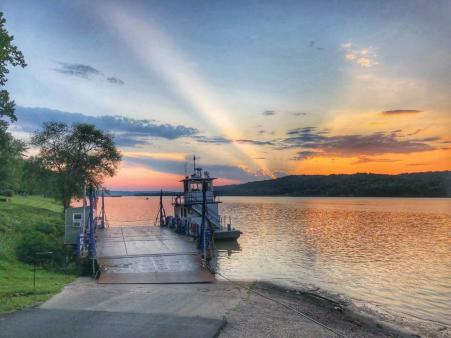 Augusta Kentucky river sunset