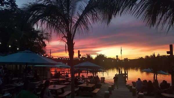 Sunset views from Rams Head Dockside