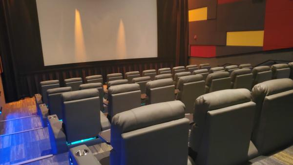Club 21 movie theater auditorium in Cheyenne, WY