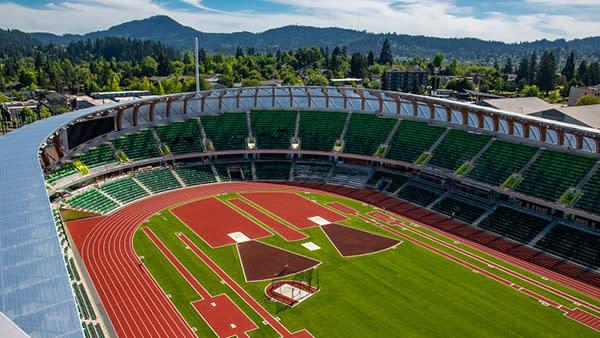 Hayward Field Aerial View
