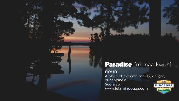 minocqua paradise wallpaper- night