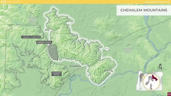 Chehalem Mountains AVA Map