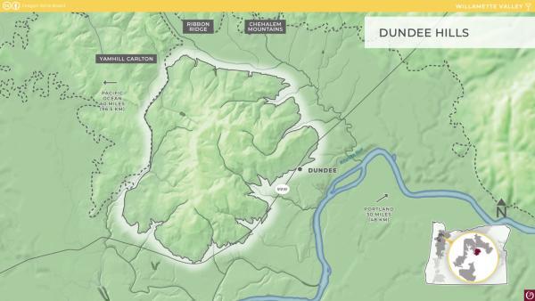 Dundee Hills AVA Map