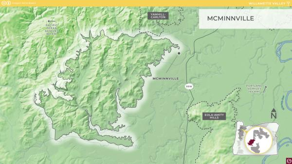 McMinnville AVA Map