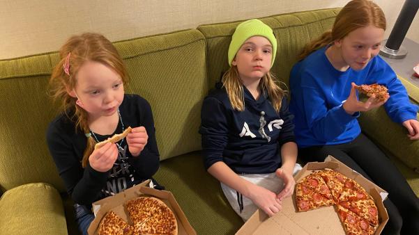 Saskatoon Inn WFH pizza kids