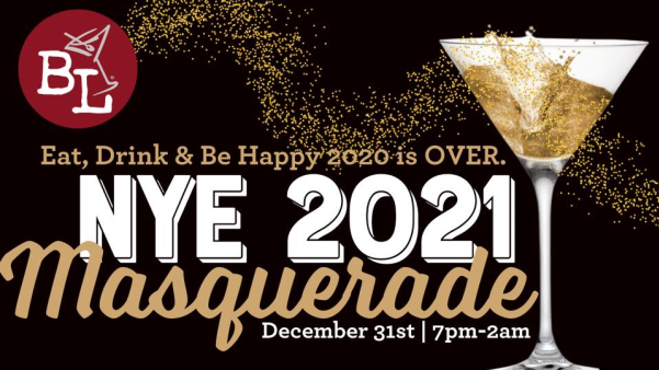 Celebrate the end of 2020 at Bar Louie's NYE 2021 Masquerade.