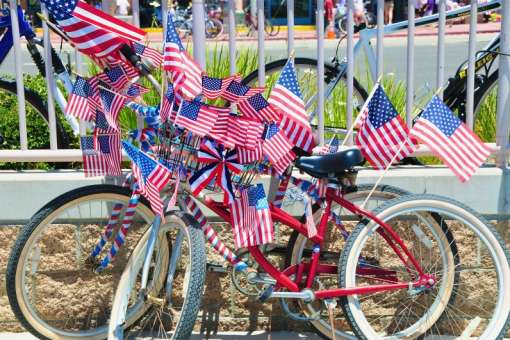 Fourth of July bicycles