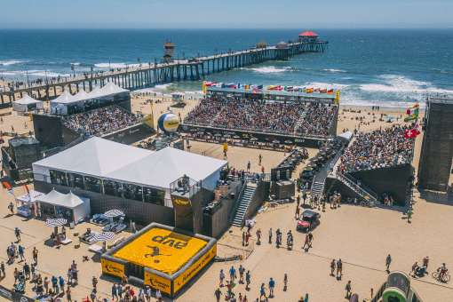 AVP Beach Volleyball Open in Huntington Beach