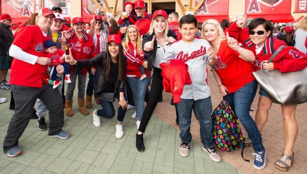 Angels Baseball Fans