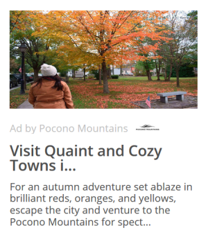 2020 Fall - Co-Op - Native Ad - Pocono Mountains Visitors Bureau