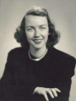 Yearbook photo of Flannery O'Connor