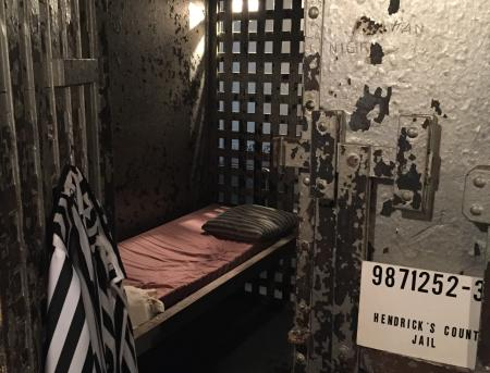 Old jail cell inside the Hendricks County Historical Museum