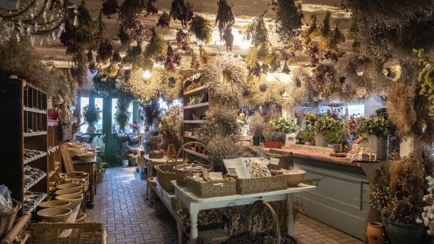 Inside of Forest Glen Herb Farm store