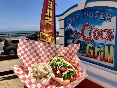saltwater crocs hotdog