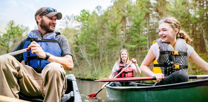 Family Kayaking on Namekagon River