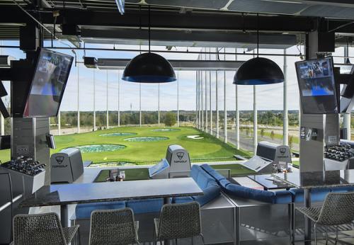 Photo of golfing bay at Topgolf Columbus.