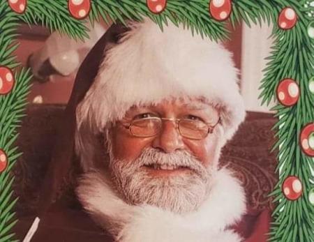 Santa at A Balloon Shop