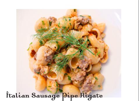 Italian Sausage Pipe Rigate