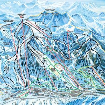 Ski City Neighborhoods | Salt Lake City Area Canyons Ski Trail Map on