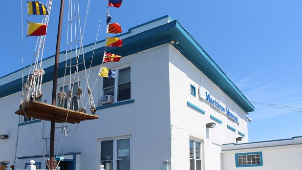 Exterior of the H. Lee White Maritime Museum on Oswego Harbor