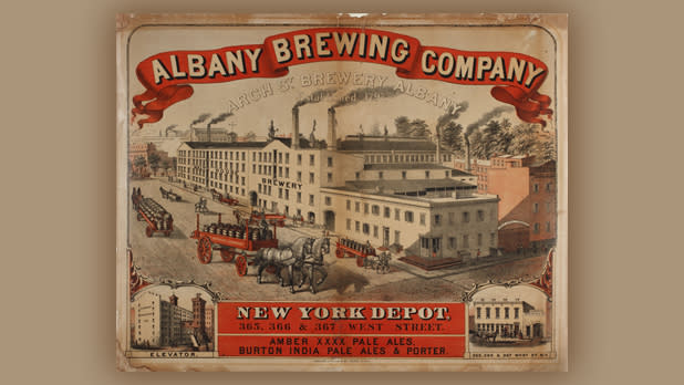 A vintage poster of the Albany Brewing Company