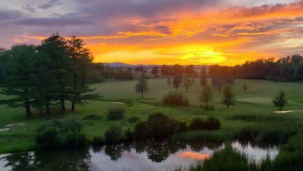 Sunset over the Barracks golf course