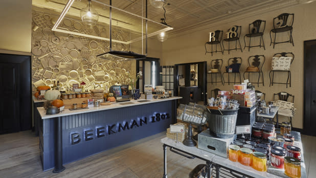 Products on display at Beekman 1802 store