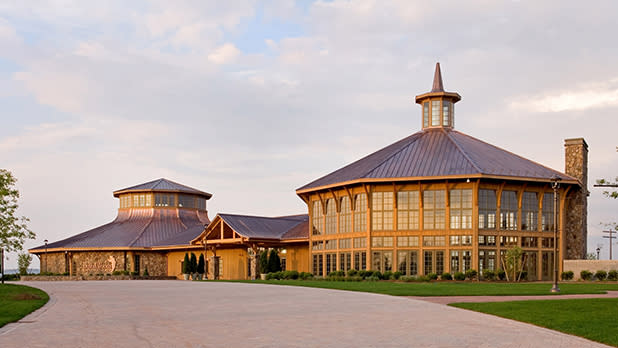 The exterior of the Bethel Woods Center for the Arts