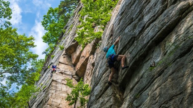 Rock Climbing in Mohonk Preserve