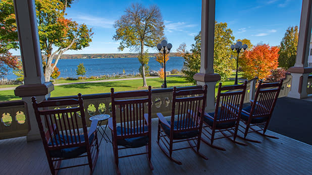 A view of the lake from the Chautauqua Institution
